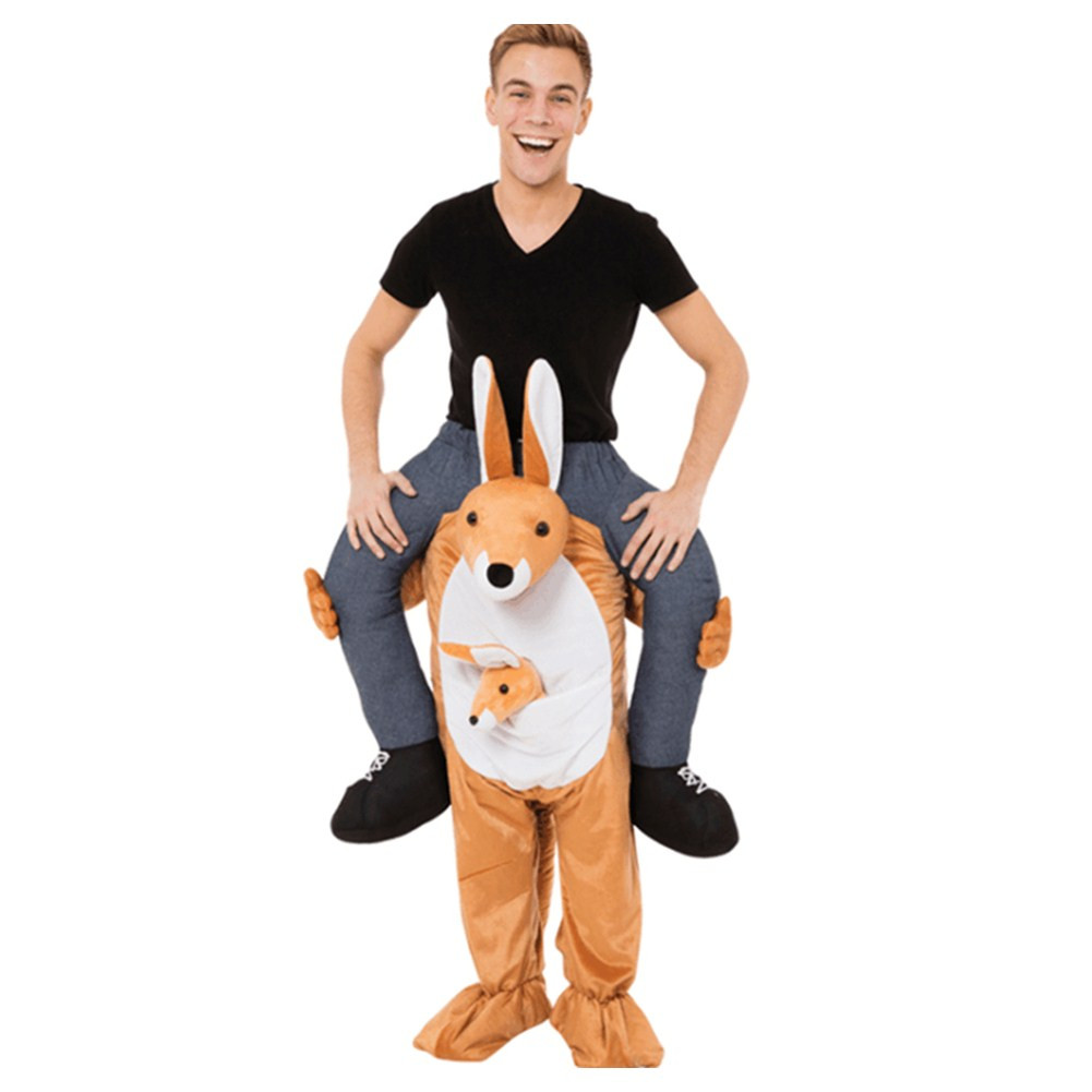 Ride On Me Costume Walking Mascot Costumes Adult Dress Up Funny Pants Carry On Animal Kangaroo Novelty Cloth Halloween Cosplay