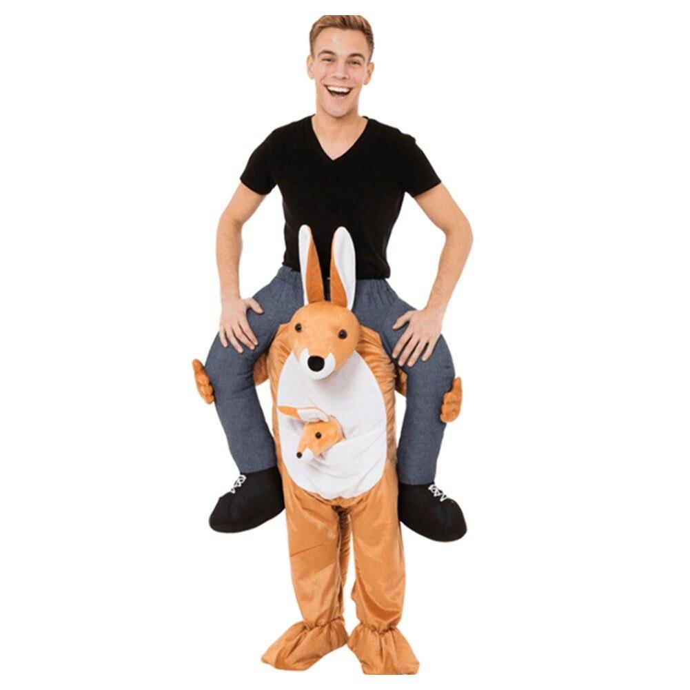 Tour Sur Me Costume Marche Costumes De Mascotte Adulte Robe Up Drôle Pantalon Carry Sur Animal Kangourou Nouveauté Tissu Halloween Cosplay