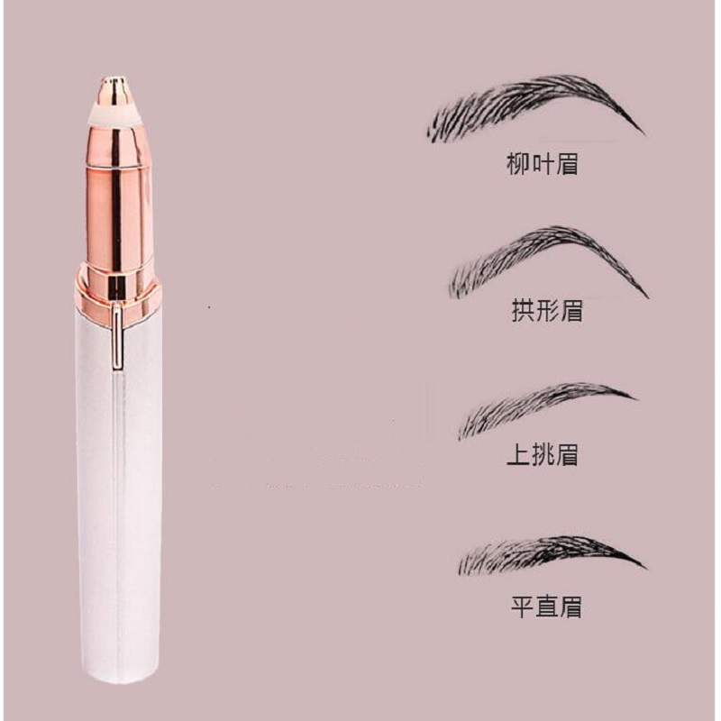 Women Mini Electric Eyebrow Trimmer Eyebrow Shaver Instant Painless Face Brows Hair Remover Epilator Well Touch Makeup Cosmetics