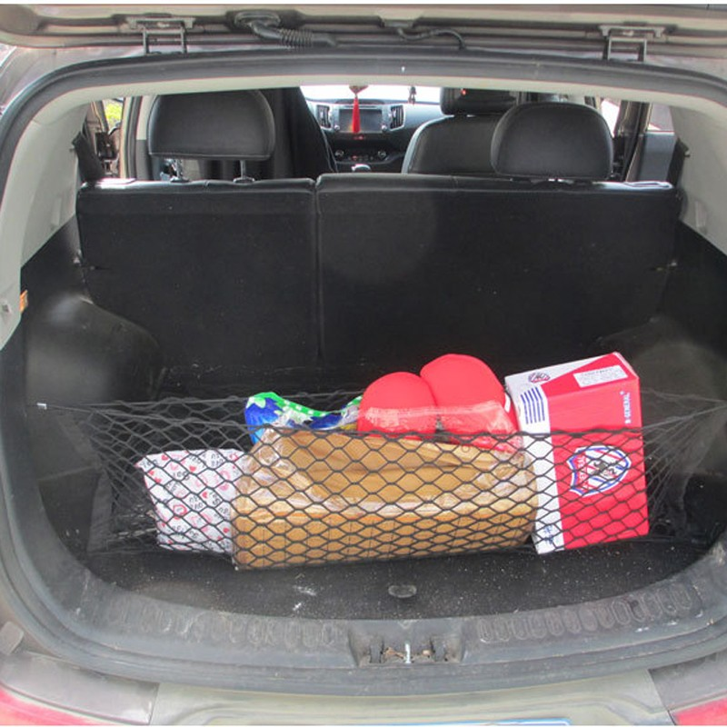 HOT New Car Nylon Elastic Mesh Net Car hatchback Rear Luggage Cargo Trunk Storage Organizer 15
