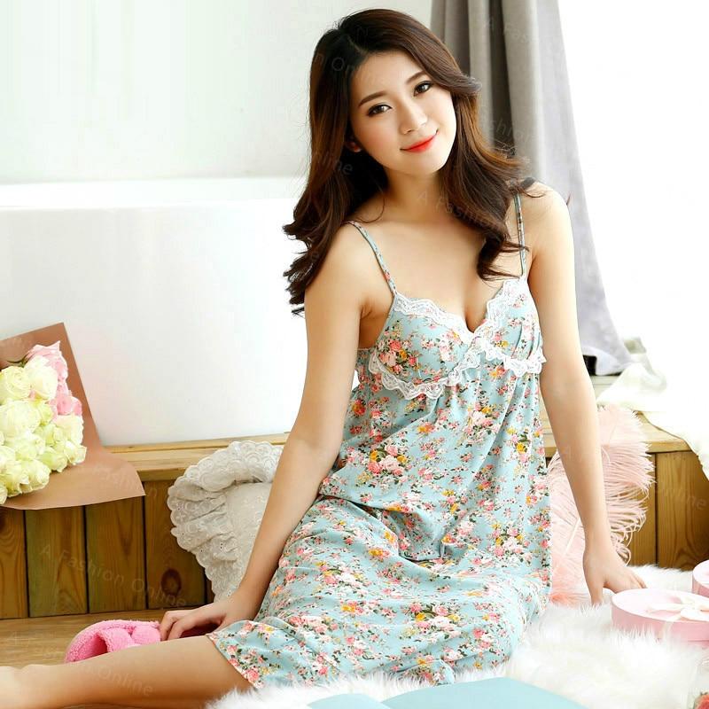 New! Lace accessory Sleepshirts Garden Style Women Sleep ...