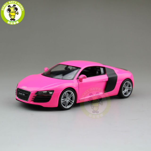 1 24 Audi R8 V10 Welly 22493 Diecast Model Car Pink In Diecasts