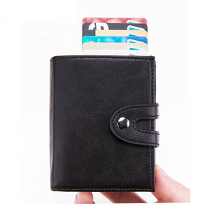 Image 2 - BISI GORO Smart Wallet Credit Card Holder 2019 Men Women Multifunctional Metal RFID Aluminium Box Blocking Travel Card Wallet