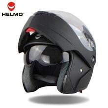 2016 Nuevo 3 Color de Moda de Doble Lente Flip Up Casco de La Motocicleta Motocross Casco Integral Ajuste Para Hombre Chándal