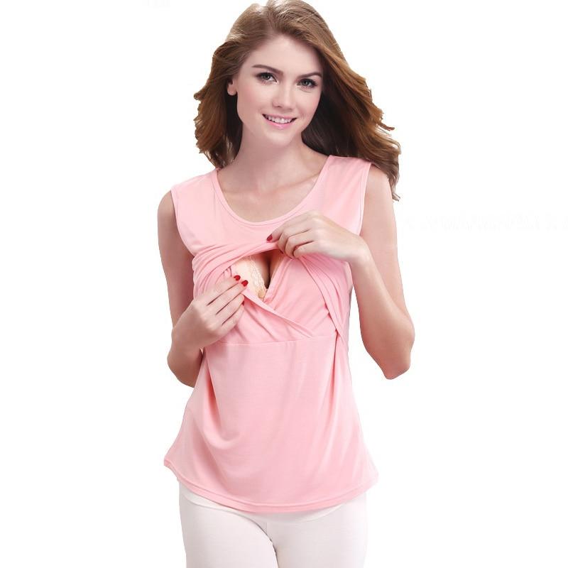 Maternity Clothes fashion Woman tshirt Pregnant breastfeeding top Pregnancy Clothes Sleeveless O-neck Vest breastfeeding clothes