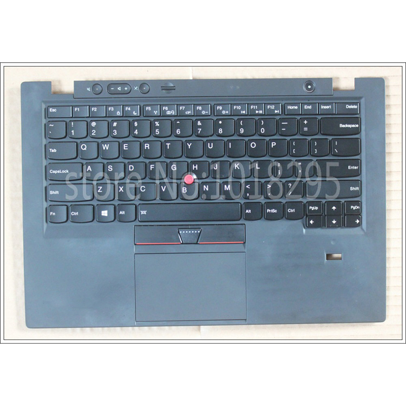 NEW for Lenovo Thinkpad X1 carbon X1C 2013 US Backlit Keyboard bezel palmresst cover W/TP FP 84US 0C02177 FRU: 04Y0786 04X3601 laptop palmrest keyboard for lenovo for thinkpad s3 s431 s440 s431 us gr uk touchpad original mp 12n63 keyboard bezel cover