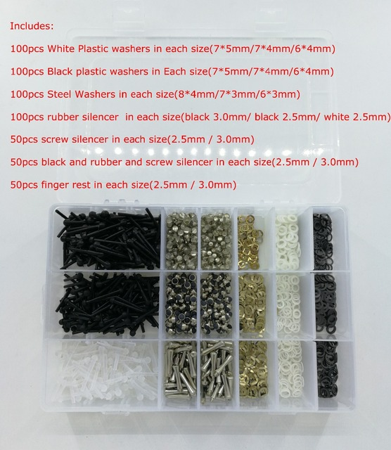 1500pcs/lot hair scissor parts Scissors Repair kits accessories including bumpers/finger rests/washer