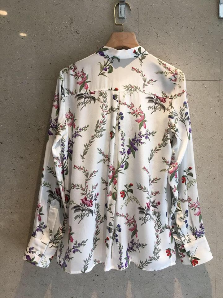 0306 Été Mode Pleine Manches En Soie Avec Hauts Printemps Chemises 2019 Arc Chemisier Femmes Imprimées Nouvelle ZHw5tqxU
