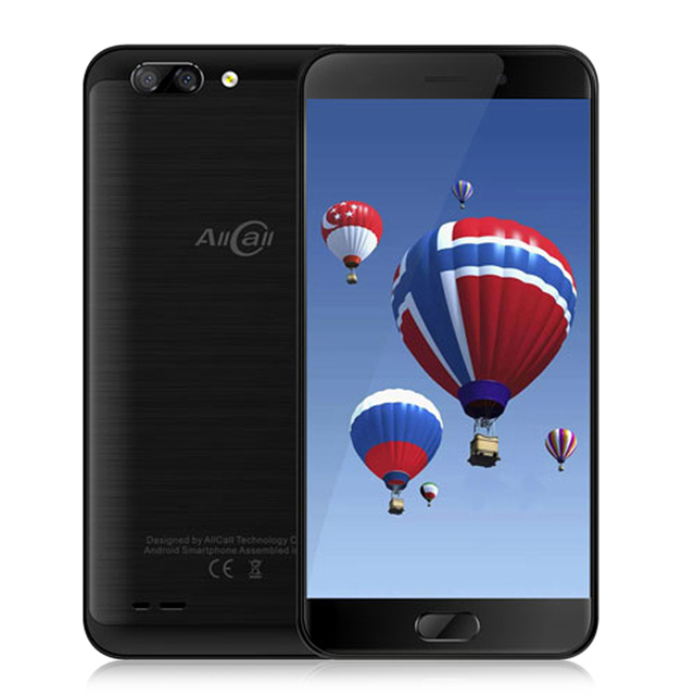 AllCall Atom 4G Smartphone 5.2'' Android 7.0 MTK6737 Quad Core 1.3GHz 2GB+16GB Cellphone 2.0MP+8.0MP Dual Rear Cameras Phone