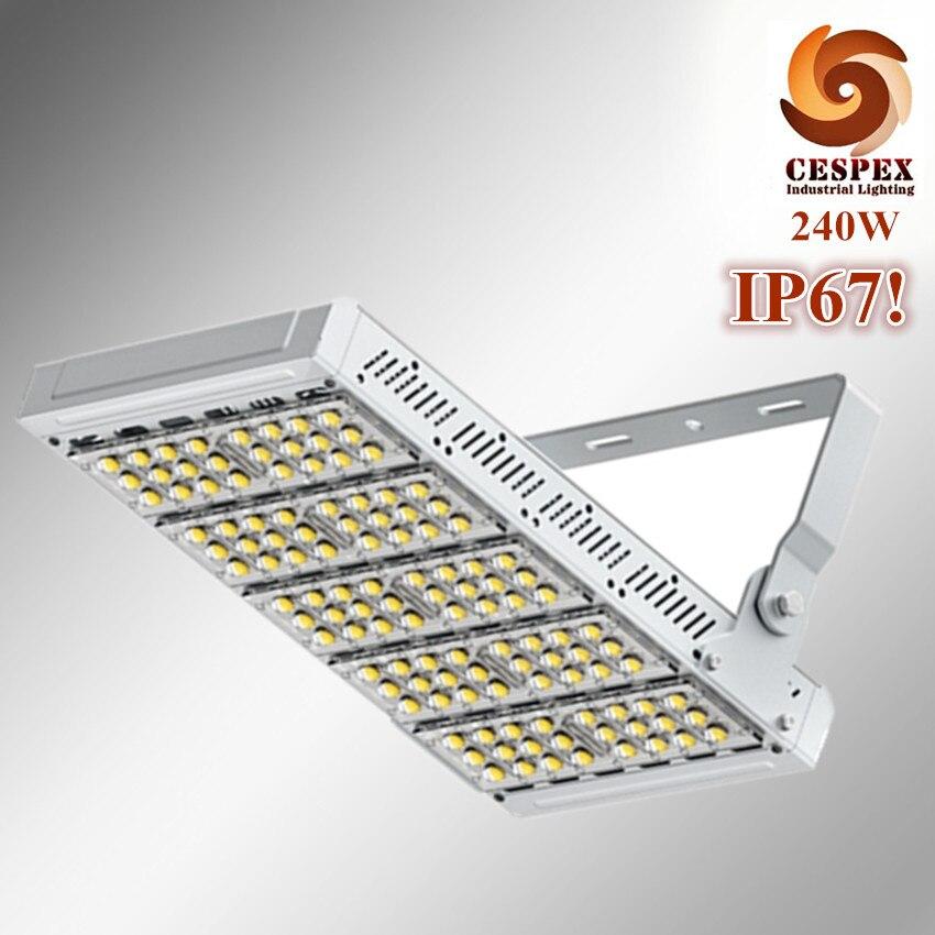 Top qualité IP67 en aluminium alliage module AC100V 110 V 220 V 50/60Hz entrée 240 W 250 W haute mât stade LED d'inondation luminaire