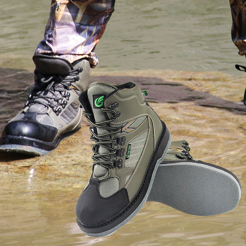 Quick Dry Men's Fly Fish Shoes for Waders Fishing Waders Outdoor Hunting Wading Shoes Fishing Boots with Felt Sole outdoor waterproof camo fly fishing hunting breathable waders wading jacket tactical sniper suit clothing fishing clothes