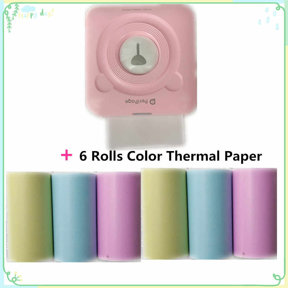 Goojprt Tanpa Tinta Bluetooth Saku Portabel A6 Peripage Printer Thermal Gambar Ponsel Mini Printer Foto Imprimante Thermique