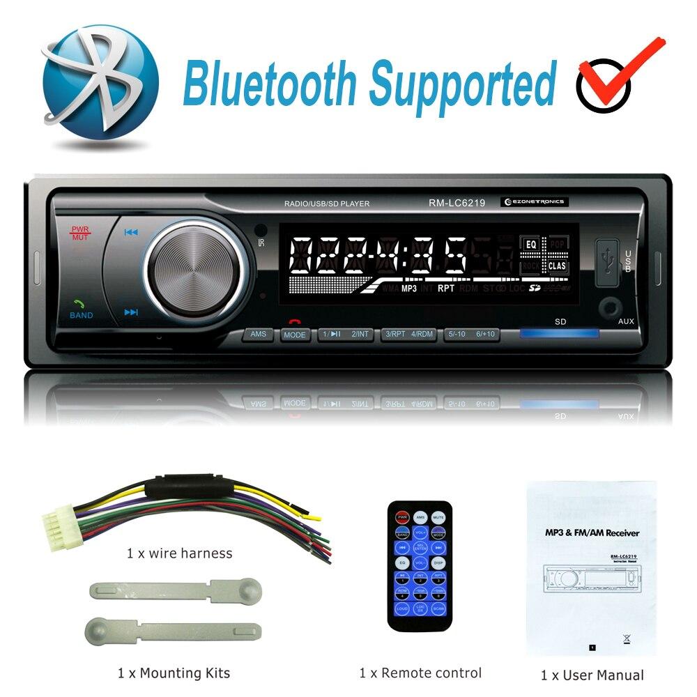 Gros Numérique Bluetooth De Voiture MP3 Lecteur FM Récepteur Radio Stéréo voiture Audio Musique USB/SD avec En Dash Fente AUX