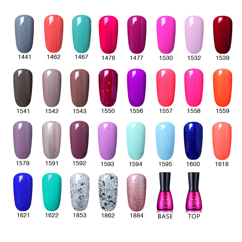 Beau Gel 7ml UV Gel Nail Polish Long Lasting Pure Color Rendam Off - Seni kuku - Foto 3
