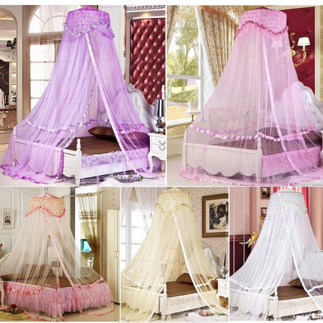 Luxury Bed Dome Canopy Lace Insect Bed Canopy Princess Round Mosquito Net Single Double King Size : bed tent queen - memphite.com