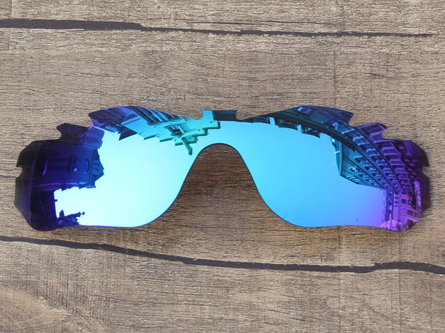Ice Blue Mirror Polarized Replacement Lenses For Radar Edge Vented Sunglasses Frame 100% UVA & UVB Protection