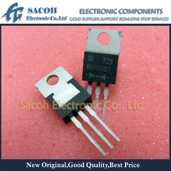 Free Shipping 10Pcs MBR10100CT SB10100CT 10100CT 10100 TO-220 10A 100V Power Barrier Schottky Rectifier image