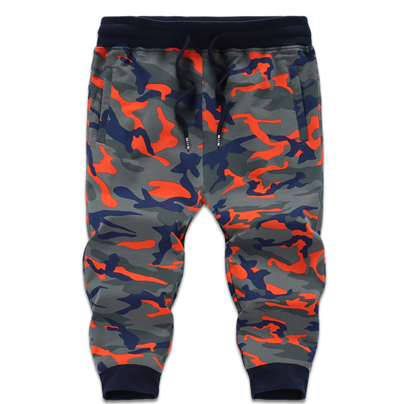 7XL 8XL Mens Sweatpants Big Size 3/4 Gym Pants Loose Camouflage Man Trousers Breathable Cotton Fitness Joger Running Pant