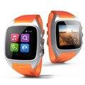 Smart watch x01 bluetooth3.0 android gps 2g/3g dual core 512 mb 4 gb rom suporte pedômetro à prova d' água sim cartão da câmera