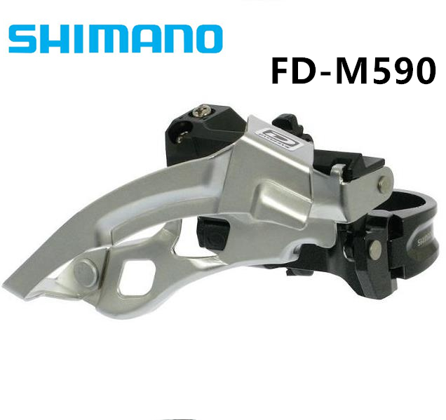 Shimano DEORE FD M590 Front Derailleur Clamp 34.9mm 3x9 Speed Mountain Bicycle