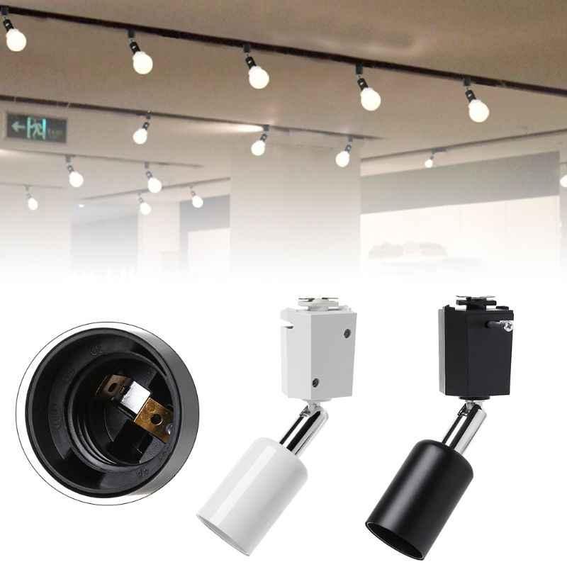 New Loft Minimalist E27 Track Light Holder Universal Connector Direction Adjustable Rail Lamp Ceiling Lights