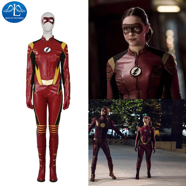 manluyunxiao new womens outfit the flash cosplay costume jesse quick costume halloween costumes for women custom - Halloween Store New Jersey
