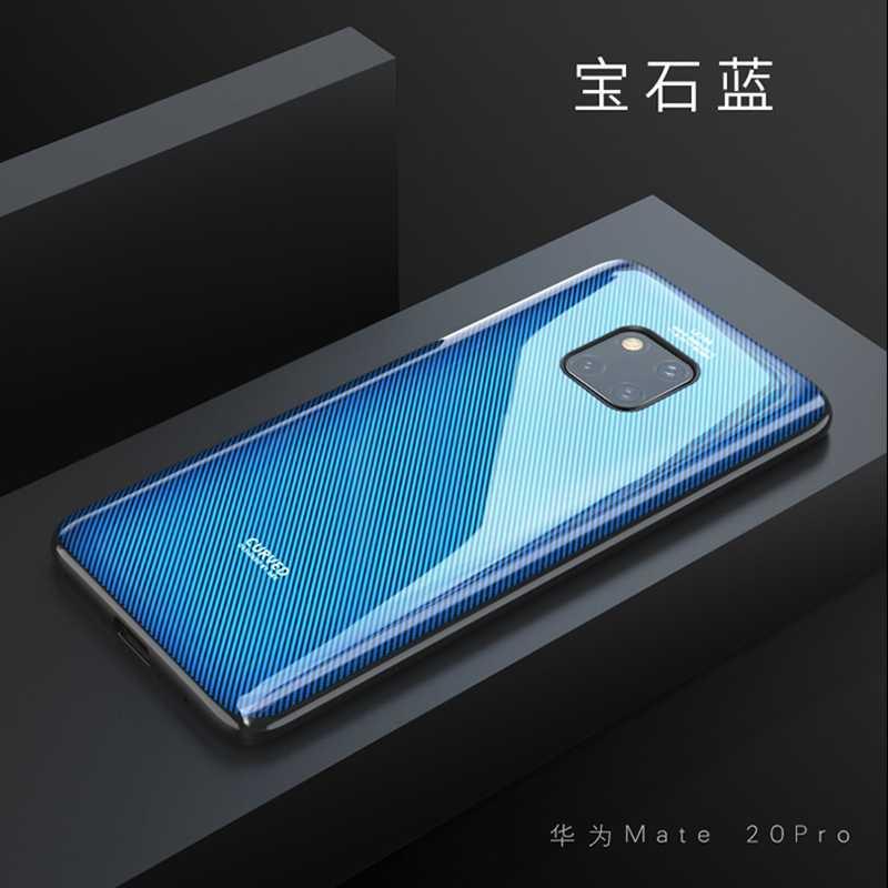 Funda de teléfono de cristal curvado de lujo para Huawei Mate 20 Pro funda de silicona de vidrio templado para Huawei amigo 20