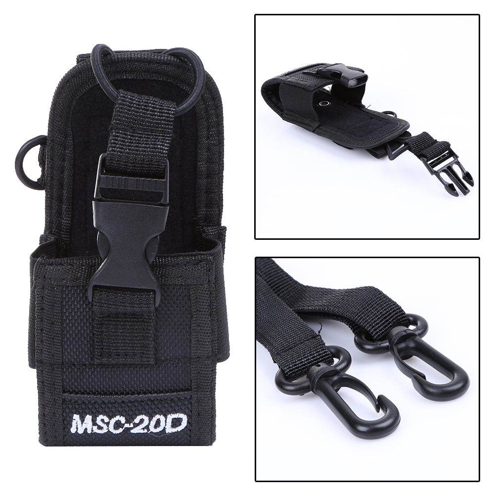 High Quality Nylon Multi-Function Universal Pouch Bag Holster Carry Case For BaoFeng UV-5R UV-82 TYT Mototrola Walkie Talkie
