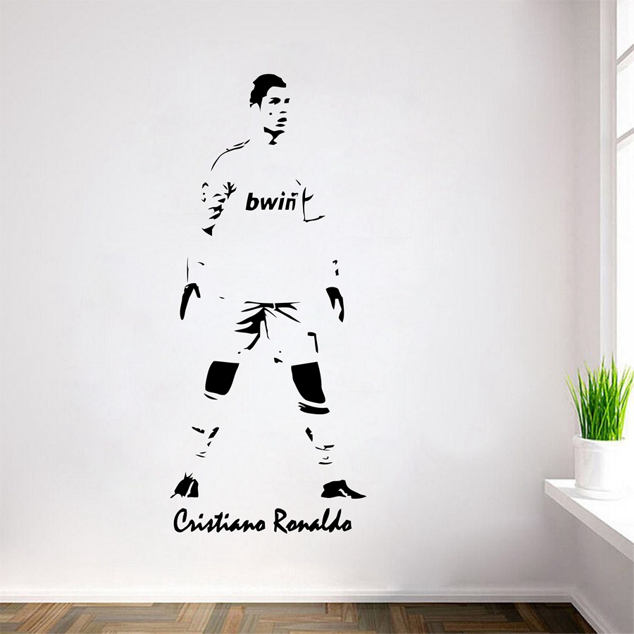 Cristiano ronaldo football player sticker sports soccer for Cristiano ronaldo wall mural