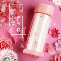 300ml My Water Bottle Eco Friendly Direct Drinking Glass My Water Bottle With Cup Lid Candy