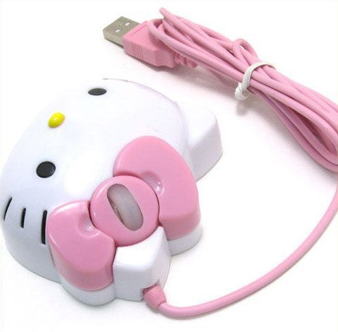 Wholesale  Dropship New Hello Kitty Optical 1200dpi USB Mouse For Laptop PC