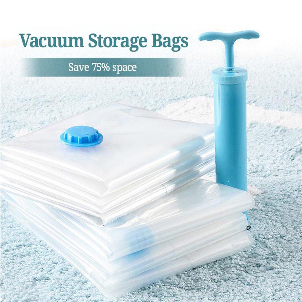 6 шт. анти-плесень вакуумные сумки для хранения стеганых одеял компактный мешок пылесос ручной насос