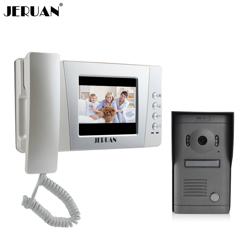 Jeruan 4 3 Inch Video Door Phone Interfone Wired Doorphone