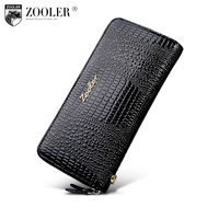 2018 new&hot Woman wallet Long Genuine leather bag wallets ZOOLER clutch and purse women money bag portefeuille femme 8663