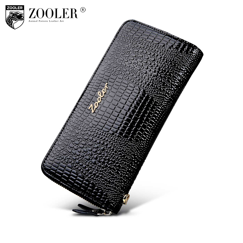 ZOOLER Woman wallet Long Genuine leather wallets womens wallets and purses zipper clutch coin purse women money bag 8663 100% genuine leather womens wallets alligator leather lady long wallet coin clutch purses new design hasp high quality purse