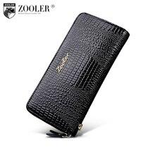 Zooler женщина бумажник долго из натуральной кожи кошельки женские Кошельки и портмоне на молнии клатч портмоне женщины мешок денег 8663