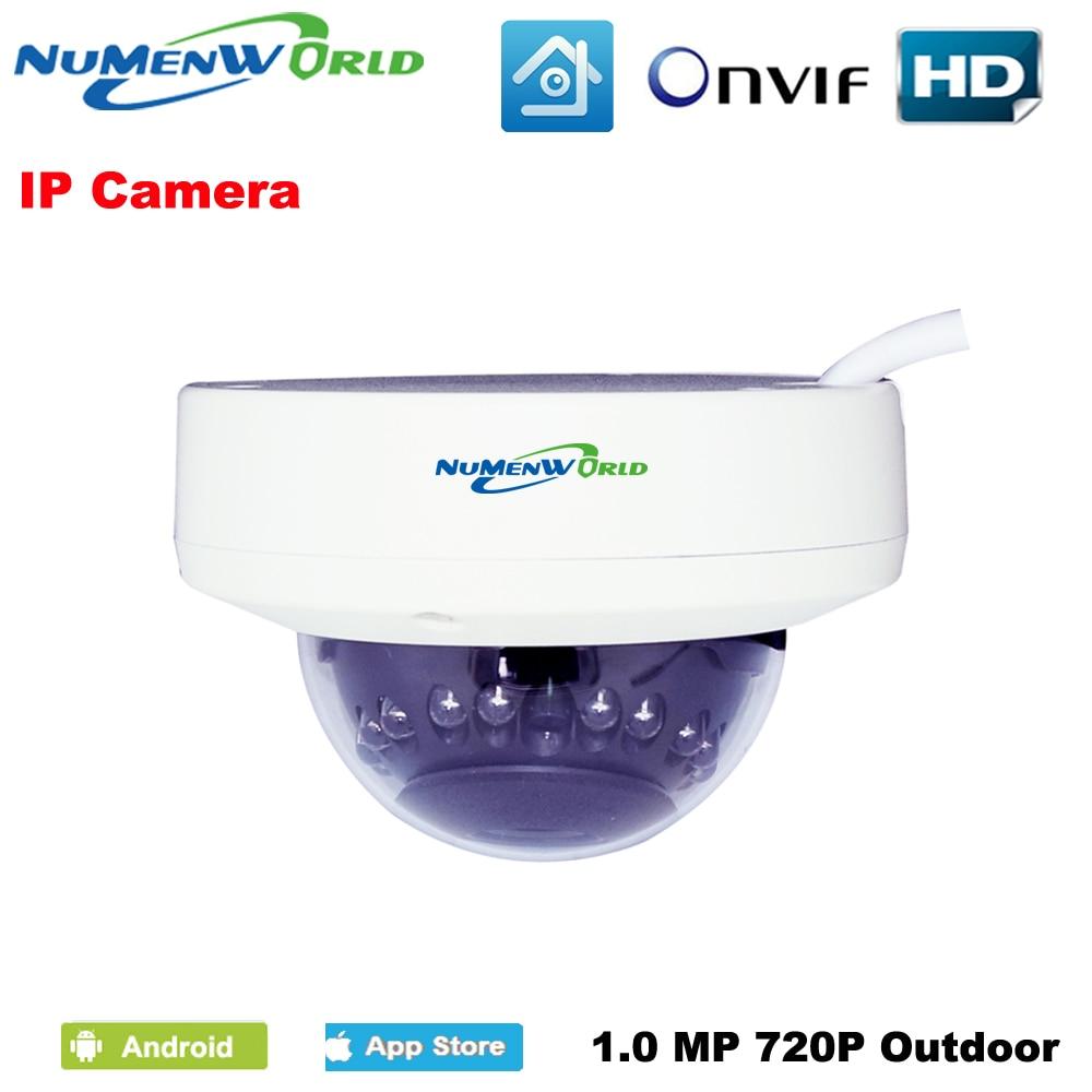 1280*720P 1.0MP Mini Dome IP Camera 720P ONVIF 2.0 IR CUT Night Vision P2P Plug and Play Mobile Phone view 12pcs IR LED Camera 1280 720p 1 0mp 36pcs ir leds ip camera onvif 2 0 waterproof outdoor ir cut night vision p2p plug and play