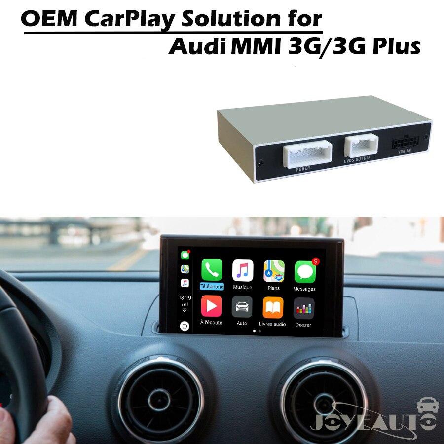JoyeAuto Adattatore Per Auto Multimediale Apple Carplay Retrofit A3 A4 A5 A6 A8 Q3 Q5 Q7 Originale Dello Schermo con la macchina fotografica D'inversione per Audi MMI