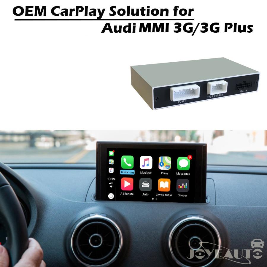 JoyeAuto Voiture Adaptateur Multimédia Apple Carplay Rénovation A3 A4 A5 A6 A8 Q3 Q5 Q7 D'origine Écran avec caméra de Recul pour Audi MMI