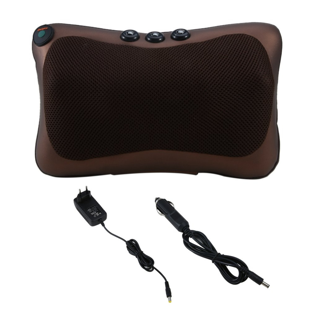 Neck Massager Car Home Shiatsu Massage Neck Relaxation Back Waist Body Electric Massage Deep-Kneading Pillow Cushion 2018 New alileader professional massager simulated human 4d shiatsu massage pillow with heat for back neck body massage and relaxation