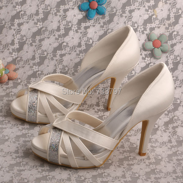 Wedopus Customize Handmade Bridal Wedding Women Shoes High Heel Peep Toes Dropship