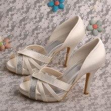 Wedopus Настройка Ручной Свадебное Женская Обувь Высокий Каблук Пищу Пальцами Dropship