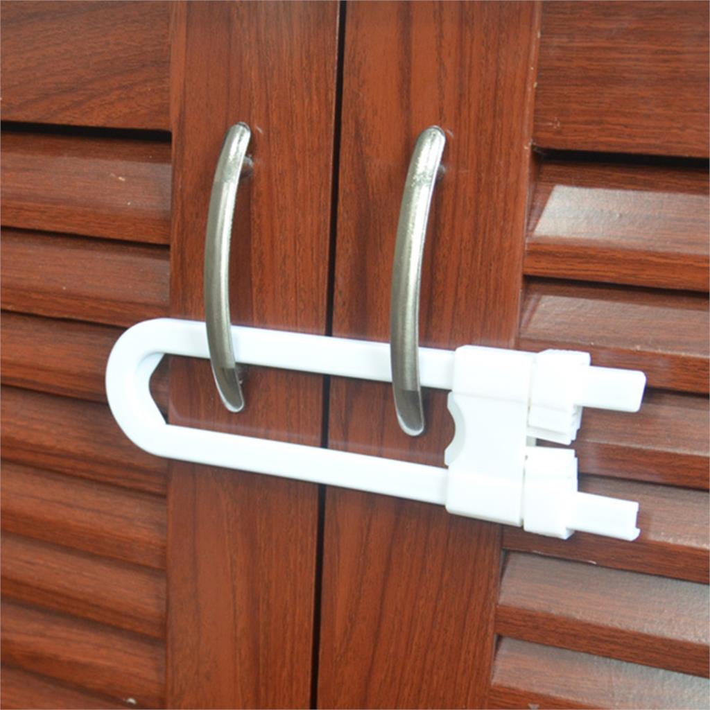 Newest 1pcs Child Infant Baby Kid Safety Drawer Door Cabinet Cupboard U Shape Lock New Baby Safety
