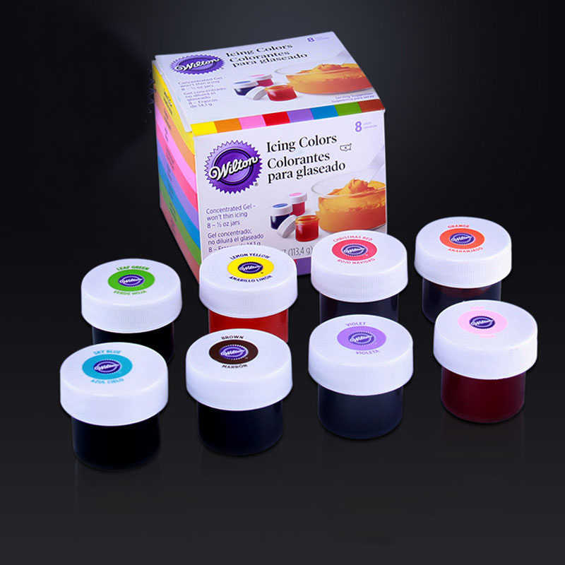 48 colors america wilton double sugar cake pigment color paste food baking colorant m2140 - Colorant Wilton