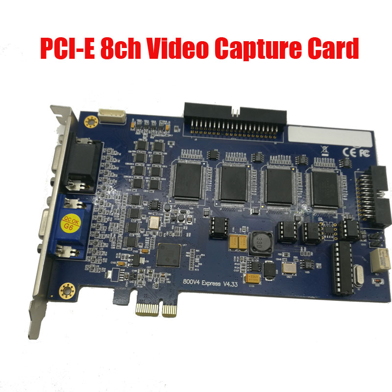 все цены на  V800E V8.5 DVR card PCI E card Support Wndows 7 32&64 bit V800E 32 channels system cctv security dvr card  онлайн