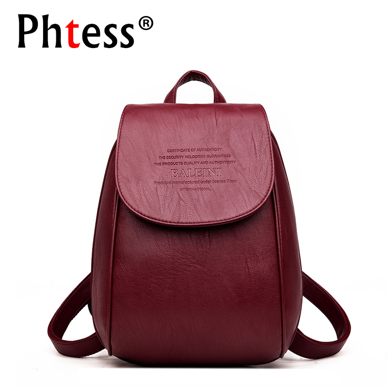 2018 New Woman Backpack Leather Brands Female Travel Bagpack School Shoulder Bags Sac a Dos Female Backpacks For Girls Mochilas 2016 new fashion backpacks men travel backpack women school bags for teenagers girls mochilas simple leather backpack sac a dos