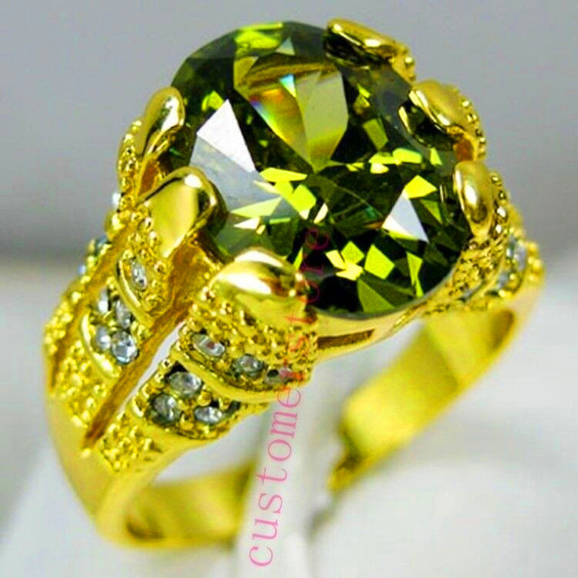 Oval Luxury Big Crystal Zircon Stone Ring 2