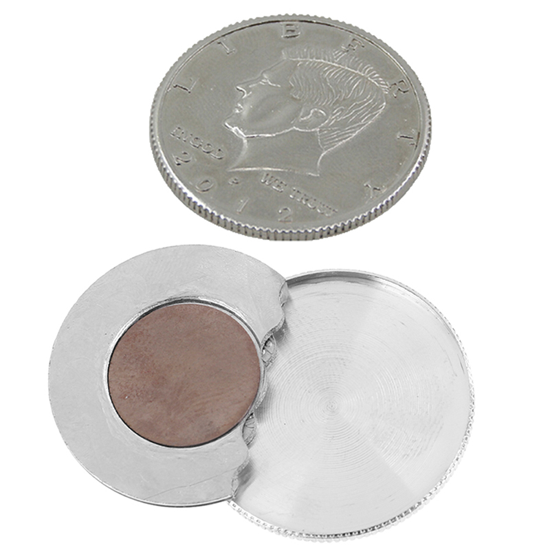 Special Magnetic Flipper Coin Butterfly Coin Magic Tricks Close Up Tricks (Made Of Half Dollar Copy) Money Magic Accessories