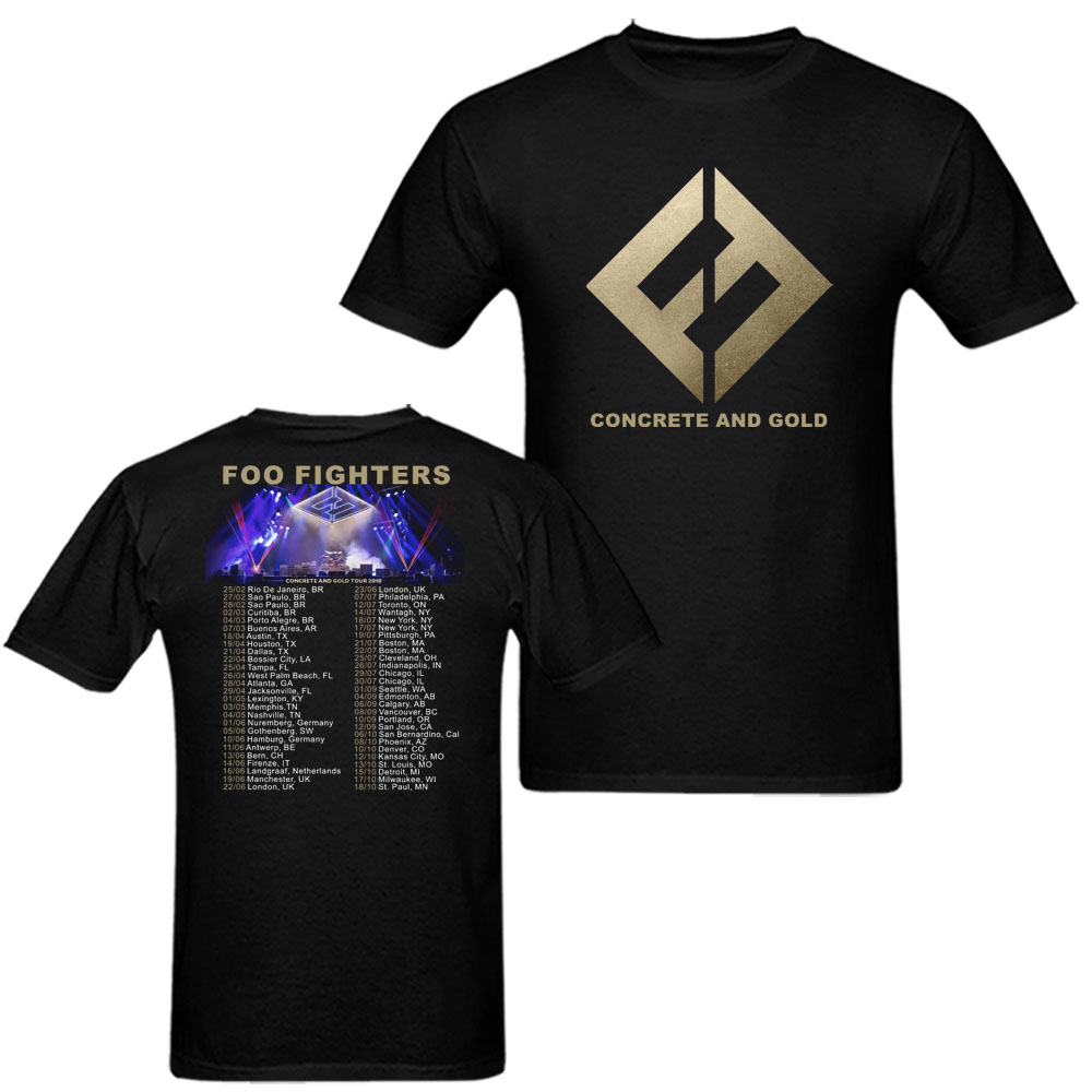 fef0f07f Foo Fighters concrete and gold World Tour 2018 T-shirt Mens and Womens Shirt