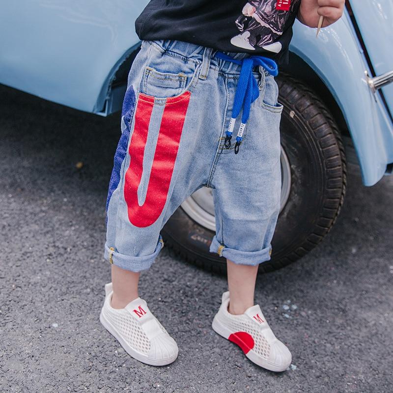 Letnie spodnie jeansowe chłopięce 2018 nowe spodenki dziecięce - Ubrania dziecięce - Zdjęcie 2